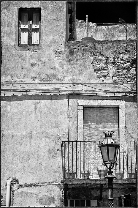 Black And White Photograph - Old House In Taormina Sicily by Silvia Ganora