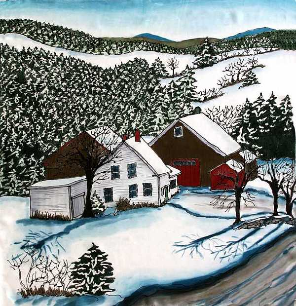 Farm Tapestry - Textile - Old Hutchinson Place by Linda Marcille