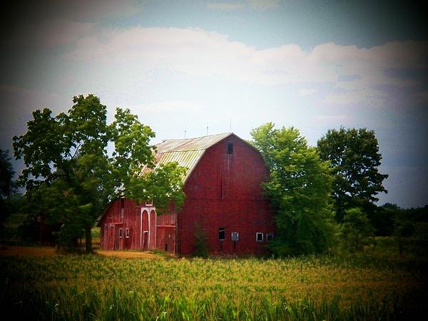 Barn Photograph - Old Indiana Barn by Joyce Kimble Smith