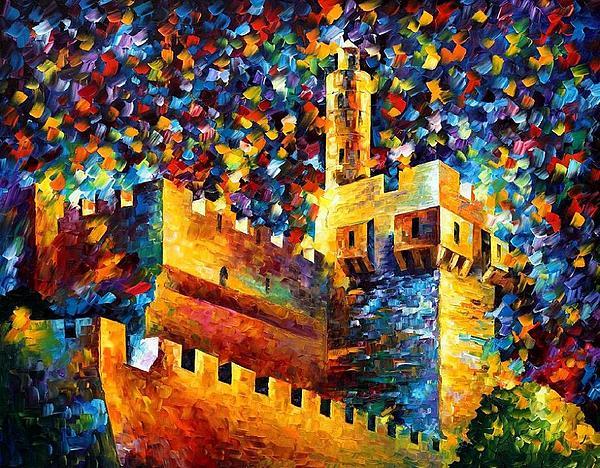 Afremov Painting - Old Jerusalem by Leonid Afremov