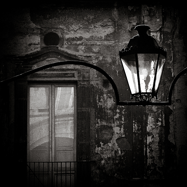 Naples Photograph - Old Lamp by Dave Bowman