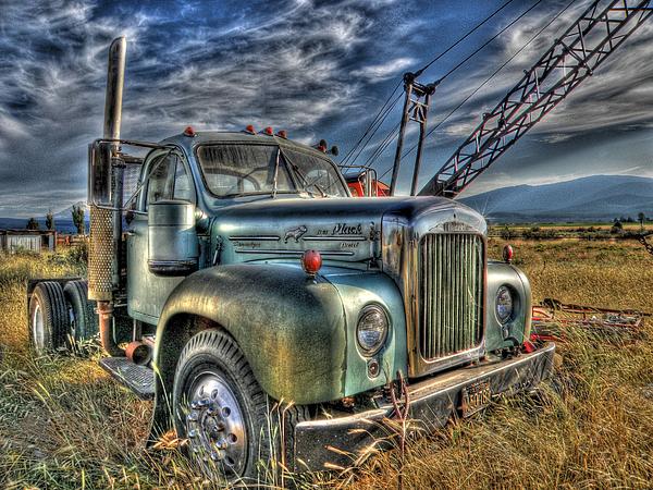 Truck Photograph - Old Mack Truck by Peter Schumacher