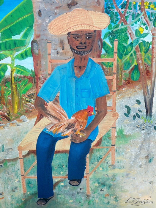 Nicole Jean-louis - Old Man And His Rooster