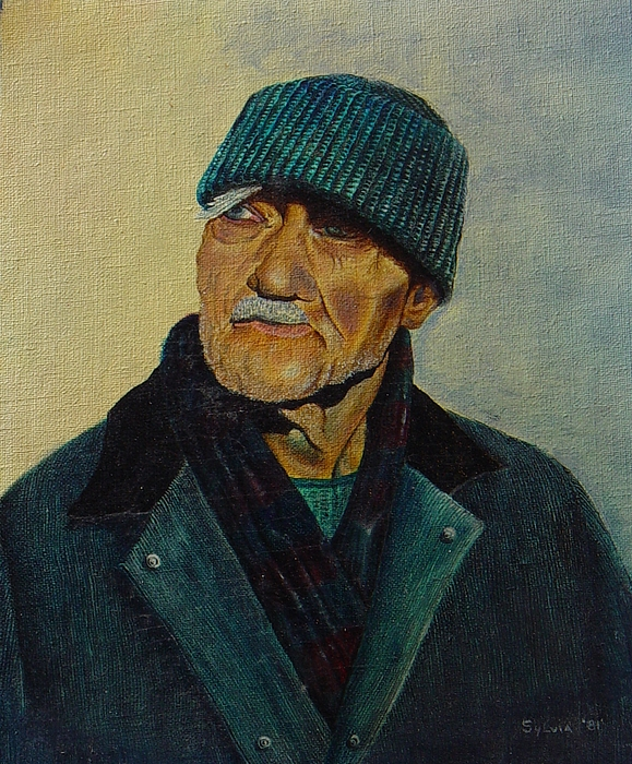 Old Man Painting - Old Man Of The Sea by Ron Sylvia