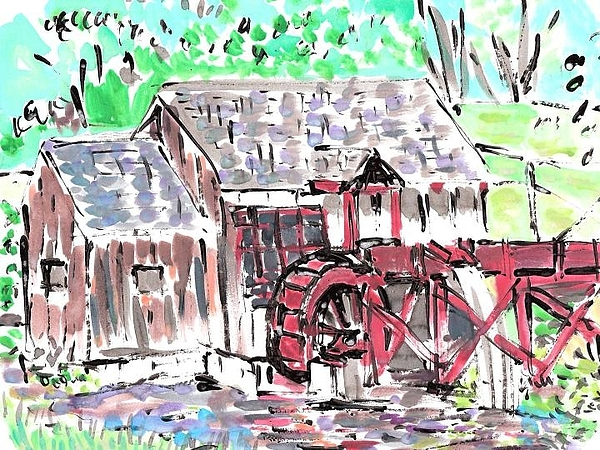 Old Mill. Painting by Samuel Zylstra