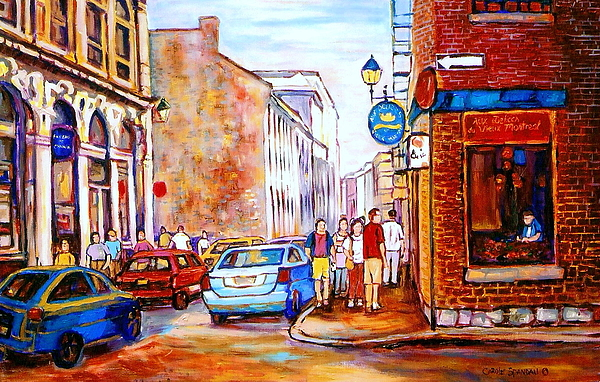 Old montreal paintings calvet house and restaurants painting by carole spandau - Restaurants old port montreal ...