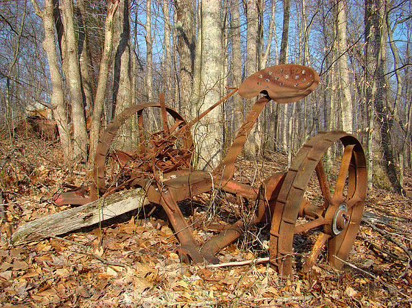 Old Photograph - Old Mowing Machine 2 by Sherry Vance