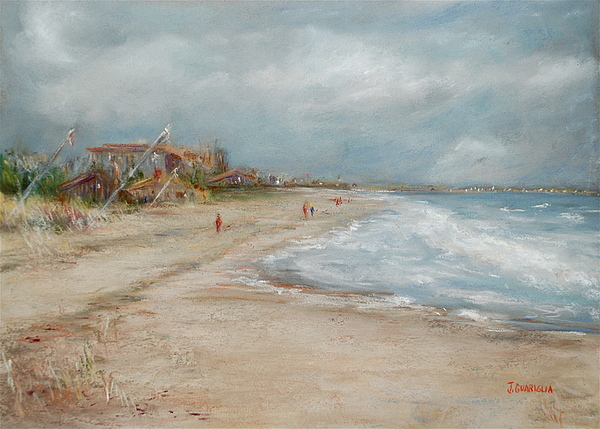 Beach Pastel - Old Orchard Beach by Joyce A Guariglia