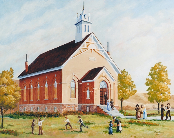 Church Painting - Old Porterville Church Summer by JoAnne Corpany