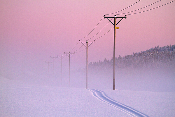 Horizontal Photograph - Old Powerlines by www.WM ArtPhoto.se