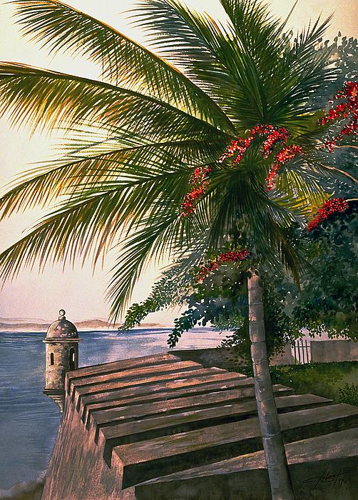 Island Painting - Old San Juan  by George Bloise