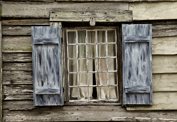 Old Window Photograph - Old Schoolhouse Window by Frank Russell