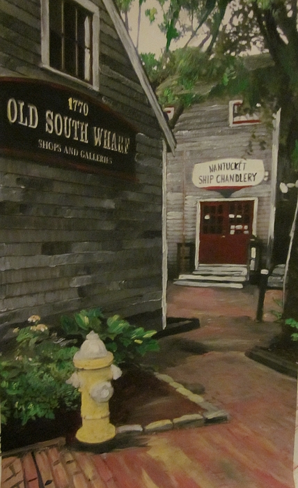 Nantucket Painting - Old South Wharf by David Poyant