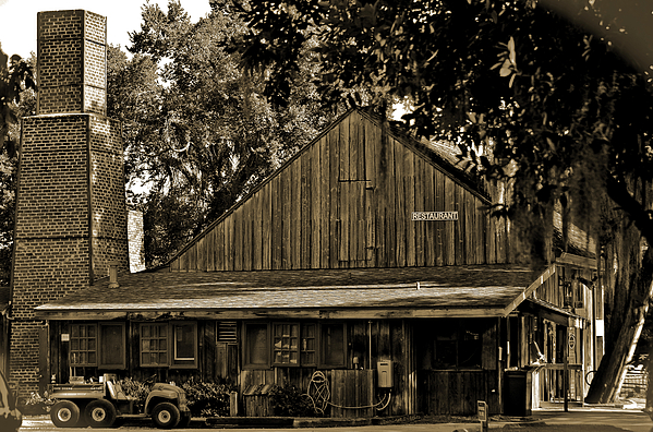 Deleon Springs Photograph - Old Spanish Sugar Mill Sepia by DigiArt Diaries by Vicky B Fuller