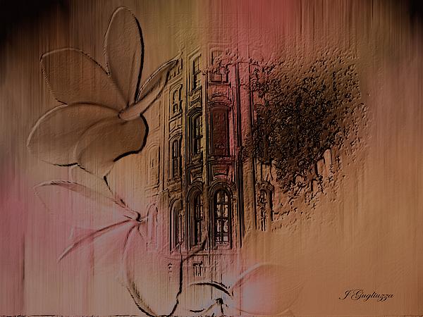 Town Digital Art - Old Towne by Jean Gugliuzza