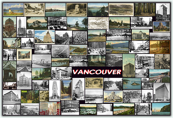 Vancouver Pyrography - Old Vancouver Collage by Janos Kovac
