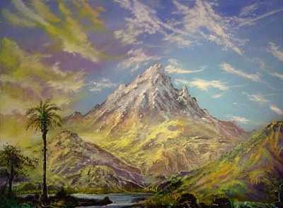 Volcano Painting - Old Volcanic Majesty by Victor Kirton