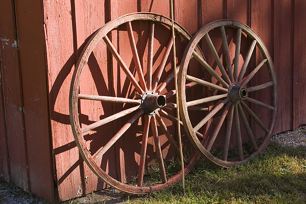 Lovely Old Wagon Wheels Photograph By Andrei Shliakhau