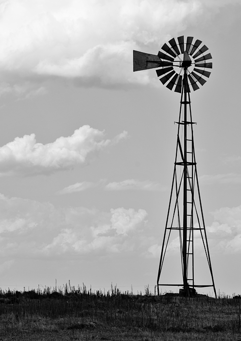 Agriculture Photograph - Old Windmill II by Ricky Barnard