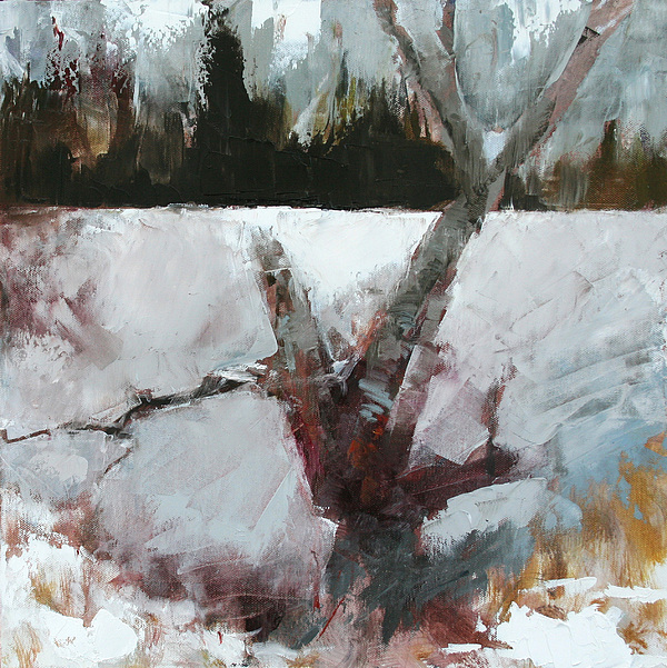 Winter Painting - Old Wood by Gregg Caudell