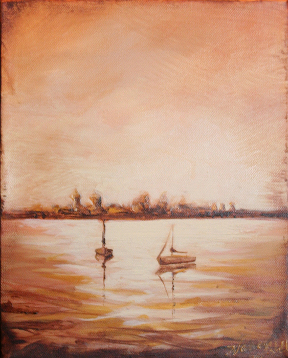 St Augustine Painting - Oldest City Lights by Michele Hollister - for Nancy Asbell