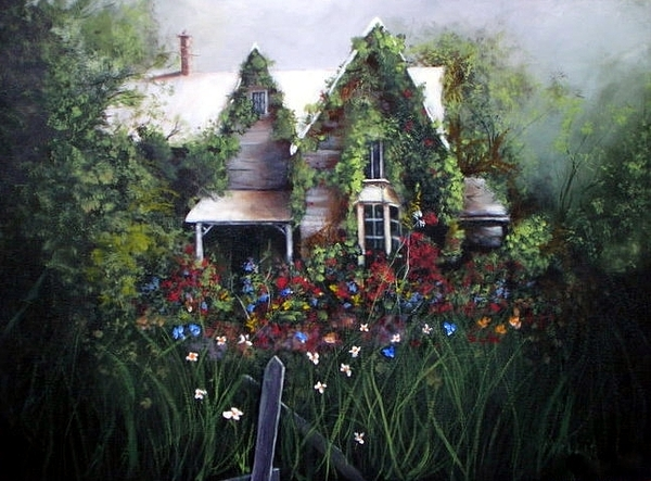 House Painting - Ole Ivy House by John Mellie
