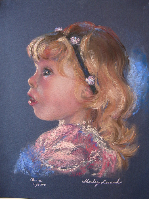 Girl Painting - Olivia by Shirley Leswick
