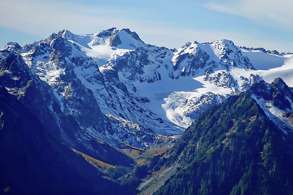 Olympic Photograph - Olympic Mountains by Rick Lawler