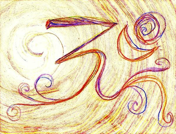 Om Painting - Om by Chandelle Hazen