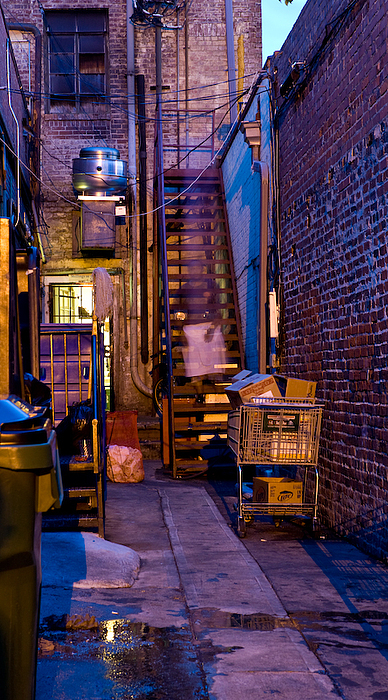 Alley Photograph - On Break by Mike Nalley