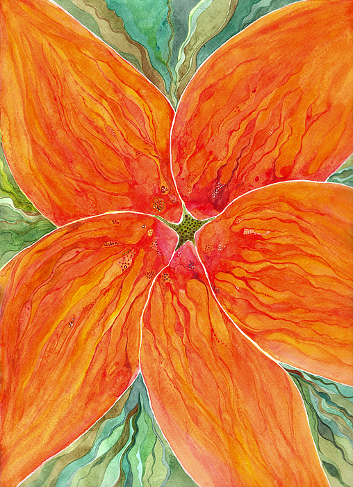 Watercolor Painting Painting - On Fire by Sue Gardiner