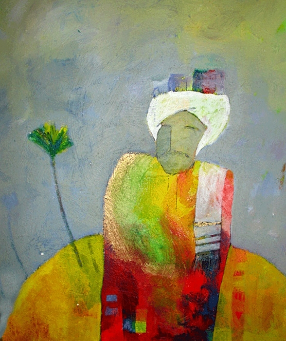 Abstract Painting - On My Head  by Islam Kamil