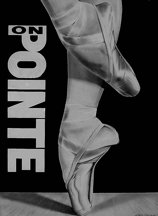 Ballet Drawing - On Pointe by John Bowman