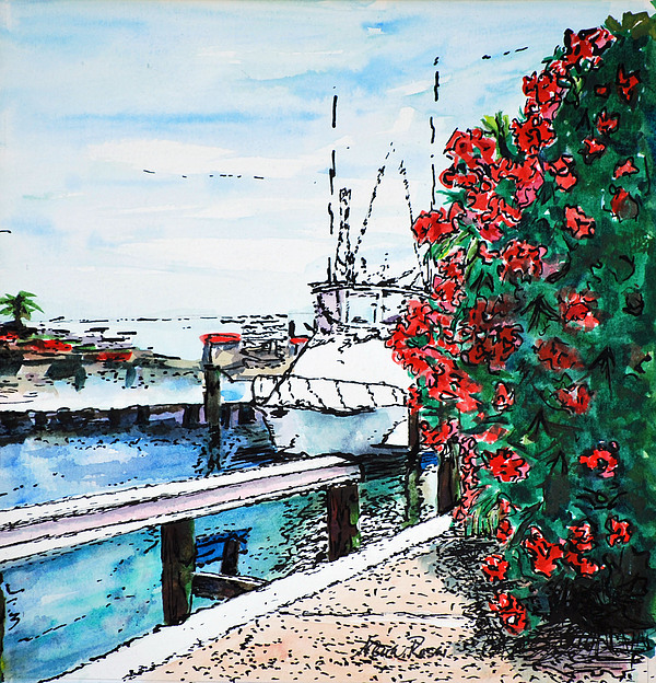 Boats Painting - On The Back Porch by Neva Rossi
