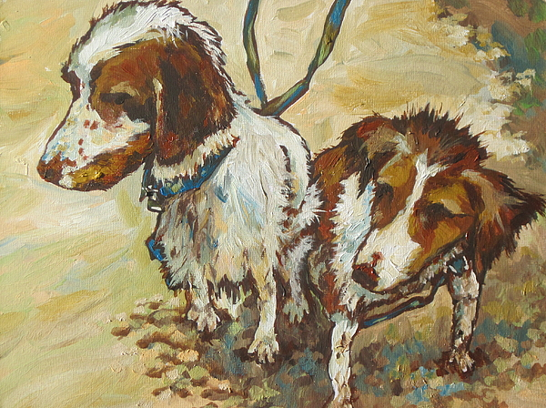 Pets Painting - On The Beach by Sandy Tracey