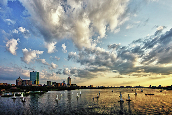 Longfellow Bridge Photograph - On The Charles II by Rick Berk