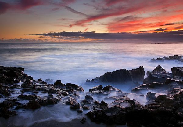 Kauai Photograph - On The Red Rocks by Mike  Dawson