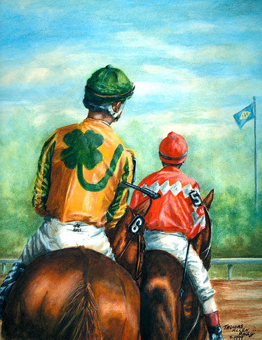 Delaware Park Painting - On To The Track by Thomas Allen Pauly