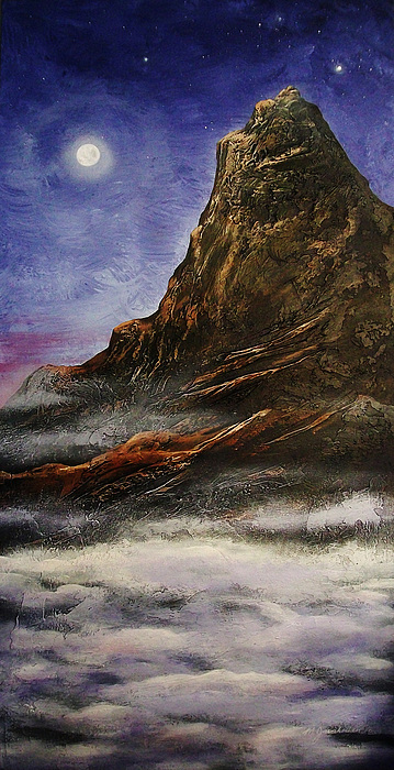 Mountain Painting - Once In A Lifetime by Masood Javaherian