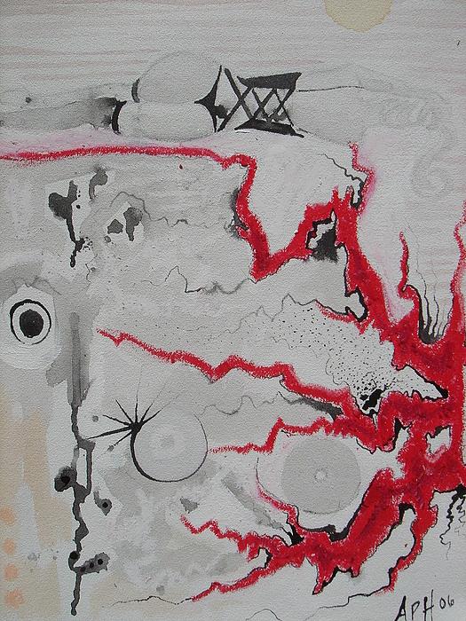 one Drawing by Amanda Prairiewind Hess