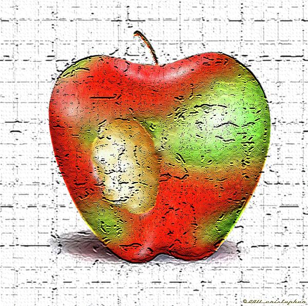 One Bad Apple Digital Art - One Bad Apple by Cristophers Dream Artistry