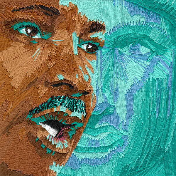 Martin Luther King Tapestry - Textile - One Day - Part One Of Two by Barbara Lugge