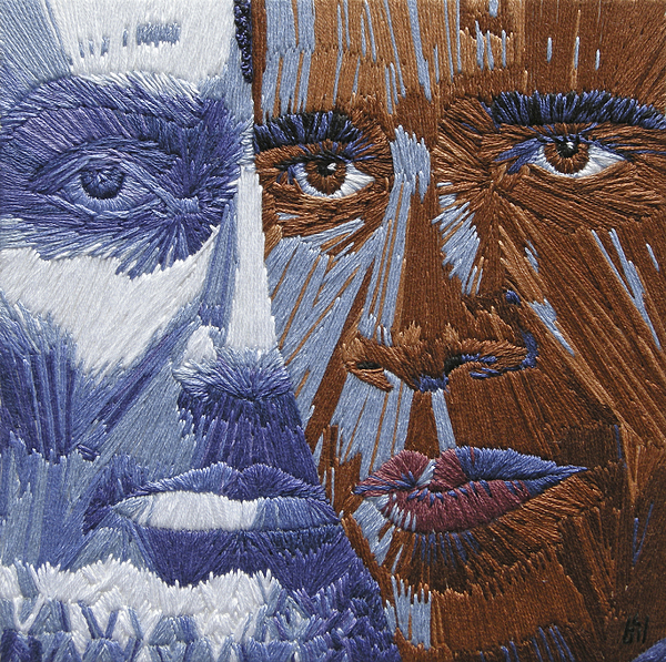 Martin Luther King Tapestry - Textile - One Day - Part Two Of Two by Barbara Lugge