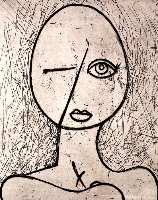 Clay Relief - One Eye by Thomas Valentine
