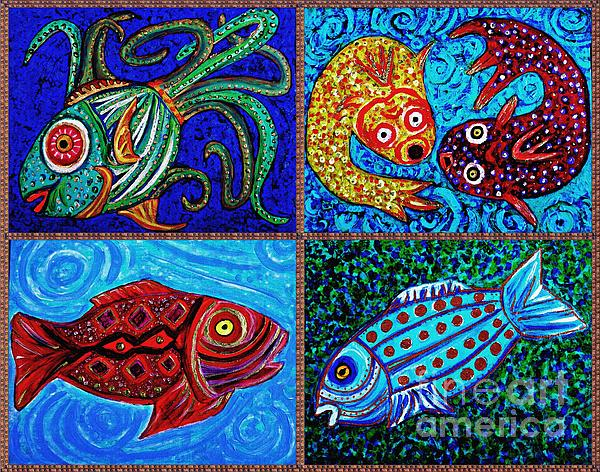 Fish Painting - One Fish Two Fish by Sarah Loft
