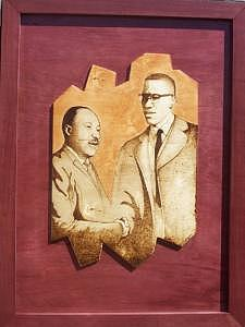 Pyrography Mixed Media - One Goal  Two Minds by William Burton Jr