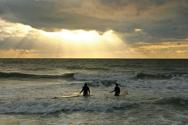 Surf Photograph - One Last Wave by Matt Tilghman
