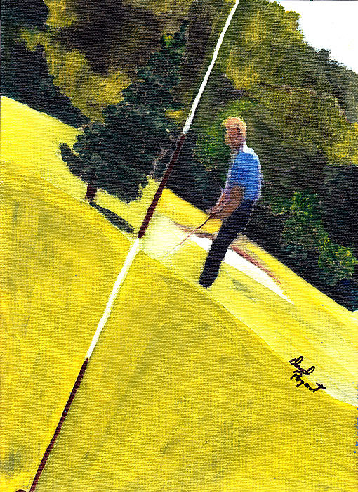 Golf Painting - One Putt Away by David Poyant