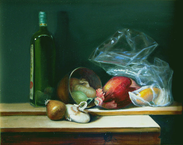 Still Life Painting - Onion Medley by Cary  Jurriaans