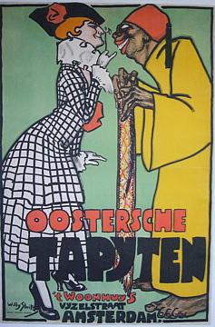 Trade Drawing - Oostersche Tapyten by Jan Willem Sluiter